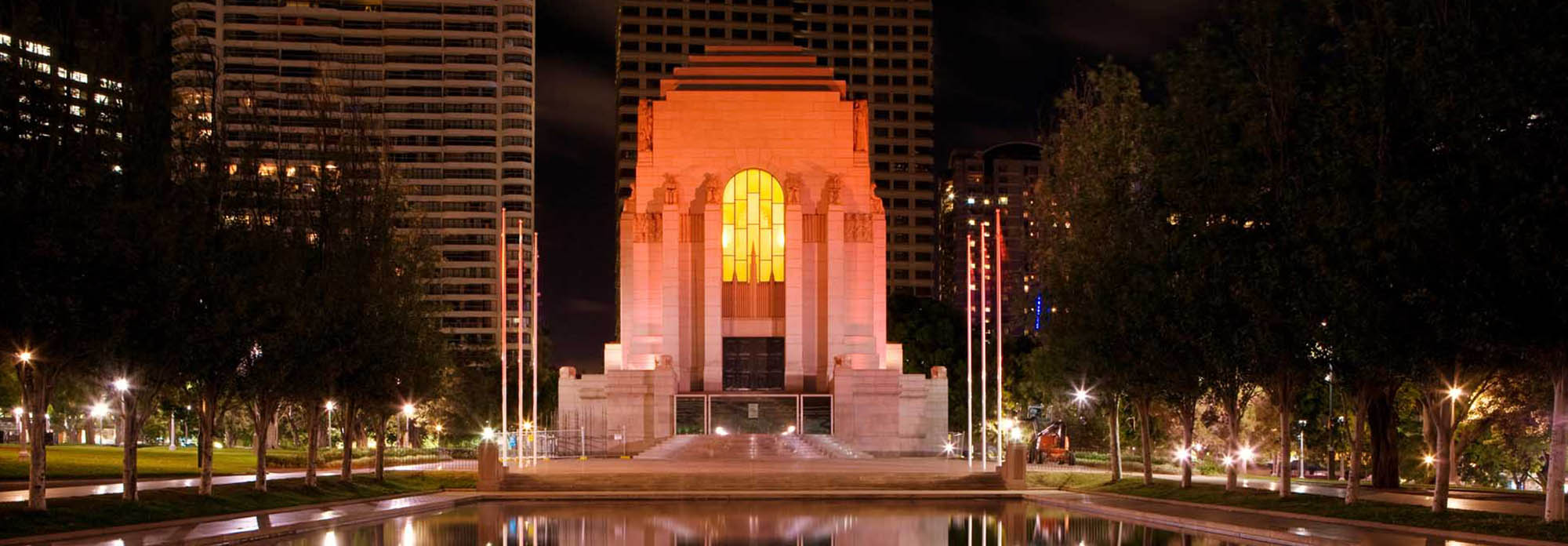 Anzac Memorial Hyde Park at Night - Photo by Rob Tuckwell