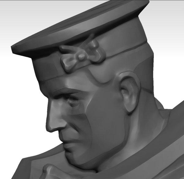 3D scan of Rayner Hoff's Able Seaman