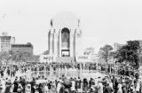 View of the crowd gathered to the north of the Memorial at the 1934 opening ceremony