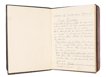 Image features a page from Corp James Bartlett's notebook