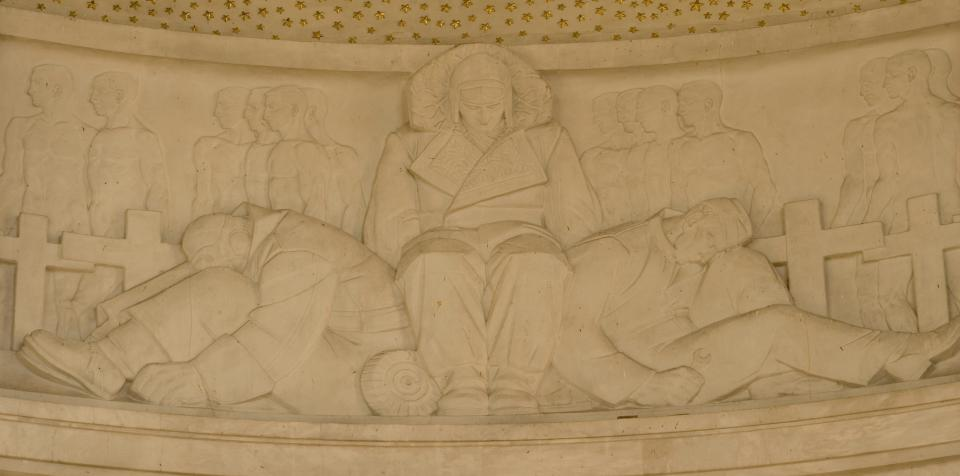 Interior Bas-Reliefs - Photo by Rob Tuckwell